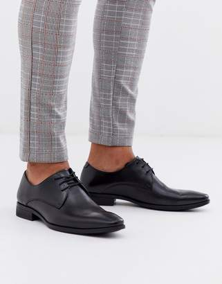 Office marco derby in black leather