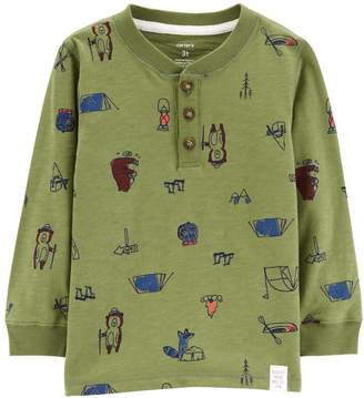 Carter's Toddler Boy Camp Graphic Henley Top
