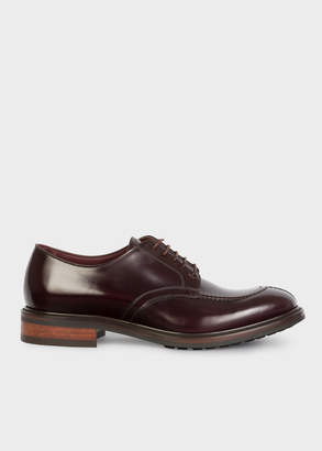 Paul Smith Men's Burgundy Calf Leather 'Andrew' Derby Shoes