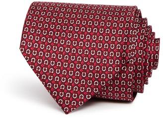 Salvatore Ferragamo Gancini Diamond Print Classic Tie $190 thestylecure.com