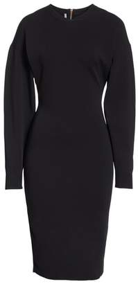 Stella McCartney Balloon Sleeve Milano Stitch Dress