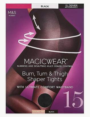 """Marks and Spencer 15 Denier Magicwearâ""""¢ Shine Body Shaper Tights"""