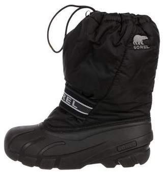 Sorel Lace-Up Nylon Snow Boots