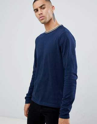 D Struct D-Struct Toweling Long Sleeve Cotton Single Jersey Top