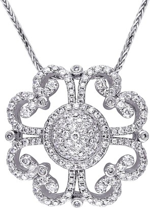 Affinity Diamond Jewelry Vintage-Style Diamond Pendant, 14K, 1-1/4 cttw,by Affinity