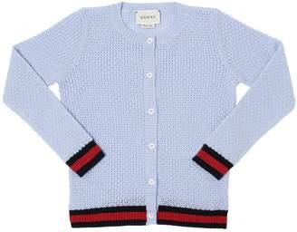 Gucci Extra Fine Merino Wool Tricot Cardigan