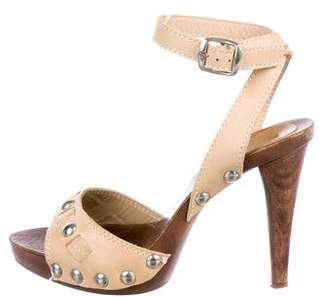 Dolce & Gabbana Leather Ankle-Strap Sandals