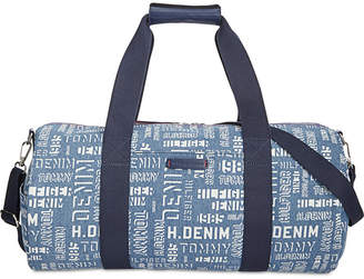 Tommy Hilfiger Printed Denim Duffel Bag