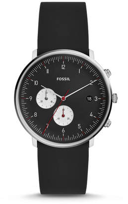 Fossil Chase Timer Chronograph Black Silicone Watch