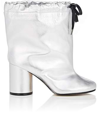 Maison Margiela WOMEN'S DRAWSTRING LEATHER ANKLE BOOTS