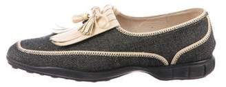 Chanel Denim Kiltie Loafers