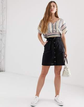 Brave Soul charlotte top in pastel stripe