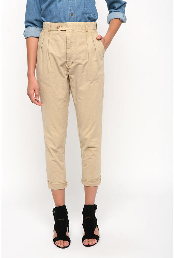 Urban Renewal Pleat Front Tapered Khakis