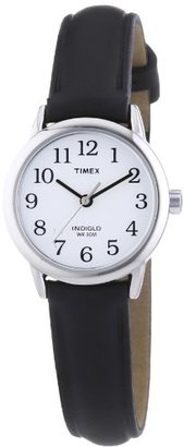 Timex Women's T20441 Easy Reader Silver-Tone Black Leather Watch $37.75 thestylecure.com