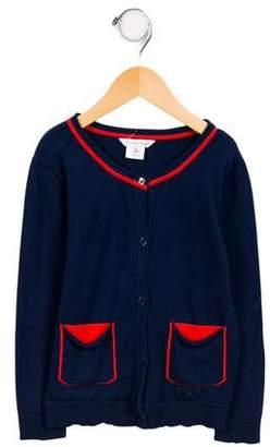 Little Marc Jacobs Girls' Embellished Button-Up Cardigan