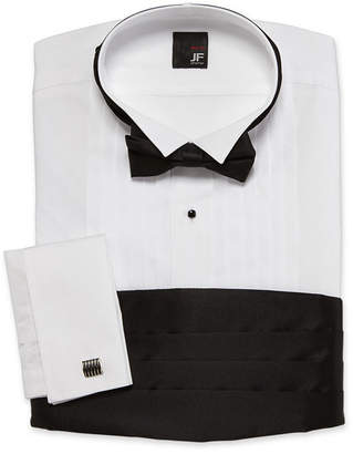 Jf J.Ferrar JF Tuxedo Shirt Set-Big & Tall