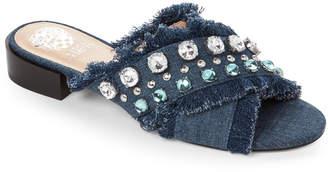 Vince Camuto Denim Noritta Embellished Slide Sandals