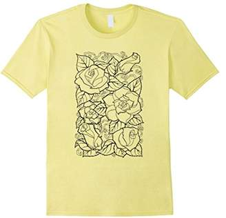 Floral Design Self Coloring T-Shirt