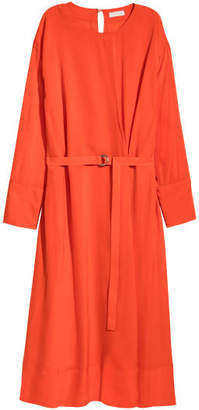 H&M Calf-length Dress - Orange