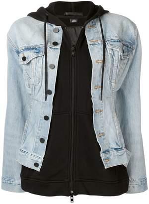 Alexander Wang denim jacket hoodie