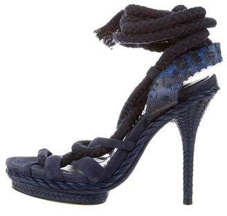 Christian Dior Lace-Up High-Heel Sandals