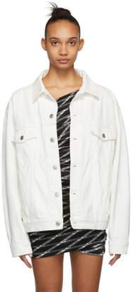 Balenciaga White Denim Logo Jacket