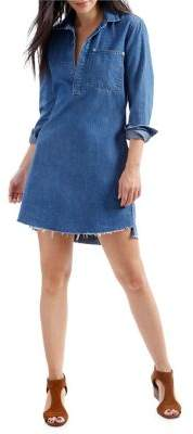Lucky Brand Long-Sleeve Denim Shift Dress