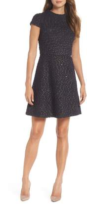 Vince Camuto Boucle Fit & Flare Dress