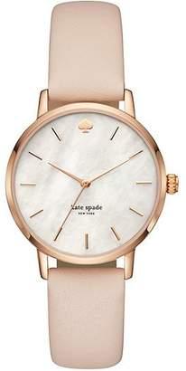 Kate Spade Metro Vachetta Leather Hybrid Watch, Vachetta/Rose Gold
