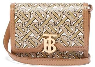 Burberry Tb Monogram Print Leather Cross Body Bag - Womens - Beige Multi