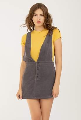 Azalea Corduroy Overall Dress