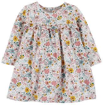 Carter's Long Sleeve A-Line Dress - Baby Girls