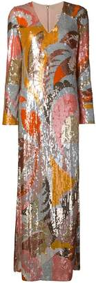Emilio Pucci Sequin Embroidered Long Dress