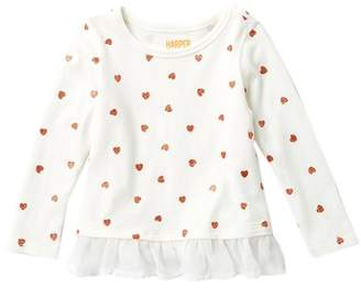 Harper Canyon Glitter Long Sleeve Top (Baby Girls)
