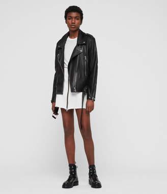 AllSaints Annina Leather Biker Jacket
