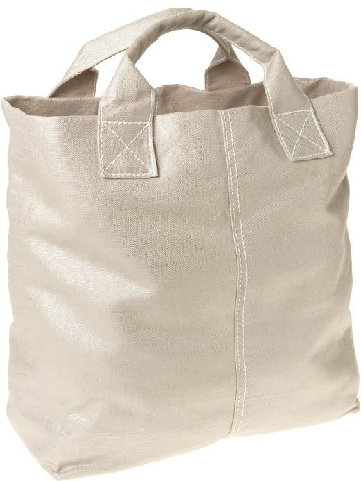 Nubby canvas tote