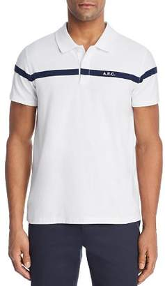 A.P.C. Henri Stripe Regular Fit Polo Shirt