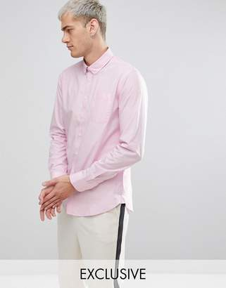 Casual Friday Button Down Collar Shirt With Pocket