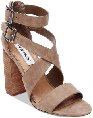 Steve Madden Women's Sundance Stacked-Heel Dress Sandals