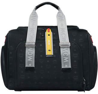 MCM Men's Resnick Monogrammed Nylon Weekender Bag