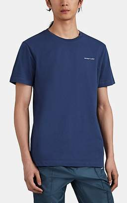 "Off-White Men's ""Logo"" Cotton T-Shirt - Navy"