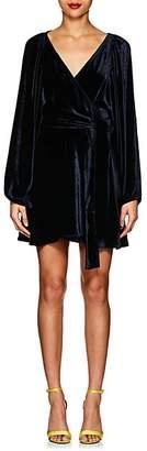 A.L.C. Women's Velvet Wrap Dress - Navy