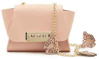 Zac Posen Mini Butterfly Charm Chain Leather Crossbody Bag