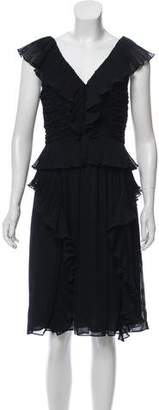 Reiss Sophie Pleated Frill Dress