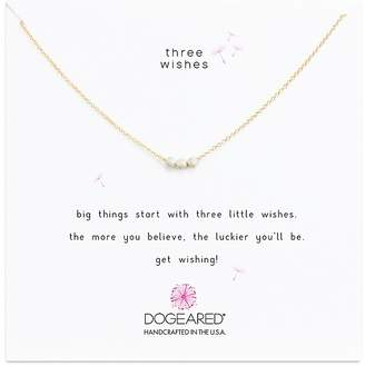 """Dogeared Three Wishes Necklace, 16"""""""