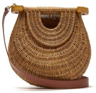 Staud - Goldie Wicker Basket Bag - Womens - Brown Multi