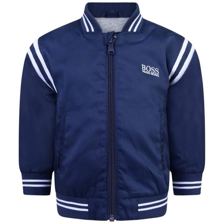 BOSS KidsBaby Boys Navy Zip Up Jacket