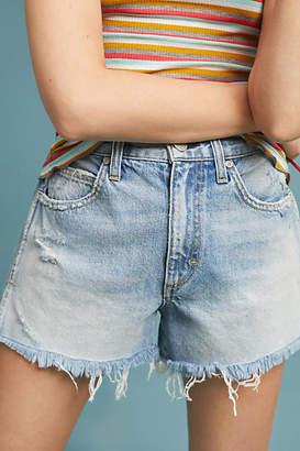 Amo Rosebowl Ultra High-Rise Distressed Denim Shorts