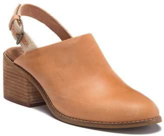 Toms Leila Leather Slingback Block Heel Sandal