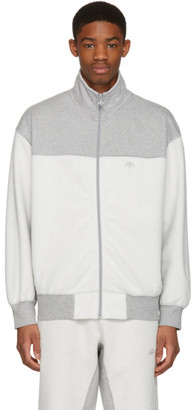adidas Originals by Alexander Wang Grey Inout Zip-Up Track Jacket $200 thestylecure.com